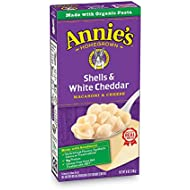 Annie's Macaroni and Cheese, Shells & White Cheddar, 6 oz. Box