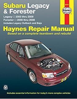 subaru legacy 90 thru 99 haynes repair manual haynes