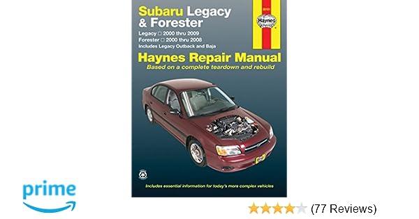 Subaru legacy 2000 2009 forester 2000 2008 repair manual haynes subaru legacy 2000 2009 forester 2000 2008 repair manual haynes repair manual robert maddox john h haynes 0038345891014 amazon books fandeluxe Choice Image