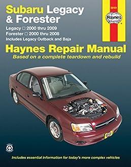 subaru legacy forester 2000 09 haynes repair manual paperback rh amazon co uk Haynes Repair Manuals Online Online Repair Manuals