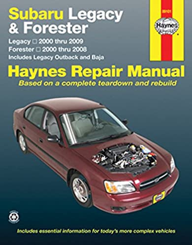 subaru legacy 2000 2009 forester 2000 2008 repair manual haynes rh amazon com 2008 subaru outback service manual Hippie Subaru Outback
