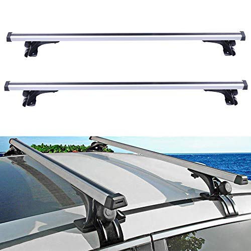 (ECCPP Adjustable Length Roof Rack Cross Bar with Locks Roof Rack Cross Bars Luggage Cargo Carrier Rails w/3 Kinds Clamp Fit for 2006-2017 Ford Honda Civic Hyundai Elantra Toyota Camry)