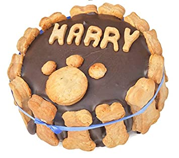 4 Inch Personalised Dog Birthday Cake Amazoncouk Pet Supplies