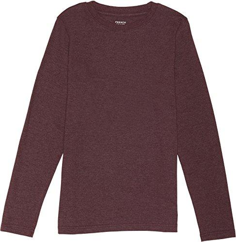 (French Toast School Uniform Boys Long Sleeve Crewneck T-Shirt, Berry Bark Heather, 6)