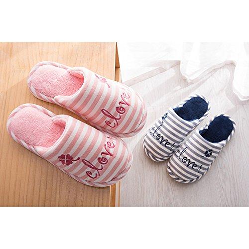 2 L'hiver Pantoufles Deux Chaud Femme Mode Coton Anti Pantoufles Eastlion Rose Et Sol En Style glissement De Automne Maison Unisexe wC4txTYq