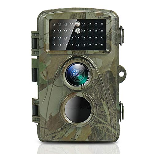 TEC.BEAN Trail Game Camera 1080P Full HD Waterproof Upgraded Infrared LEDs Scouting Cam for Wildlife Monitoring with 120°Detecting Range Motion Activated Night Vision LCD IR LEDs