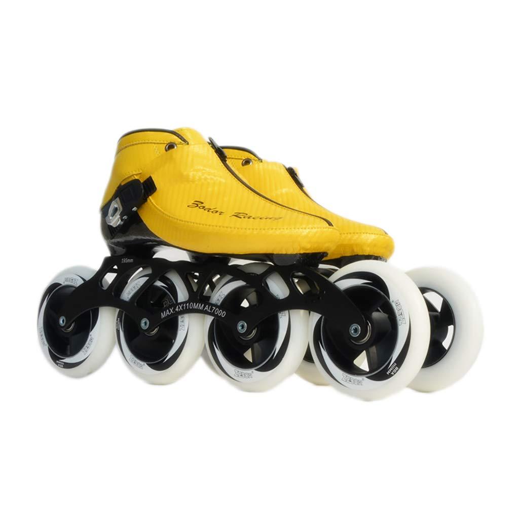 NUBAOgy インラインスケート、90-110ミリメートル直径の高弾性PU車輪、子供のための調整可能なインラインスケート (色 : 白, サイズ さいず : 43) B07HQCX476 35|白 白 35