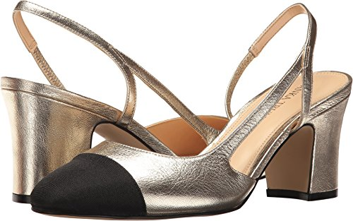 Galaxy Pumps (Ivanka Trump Women's Liah Gold Leather/Galaxy/Grosgrain Pump)