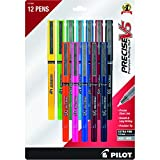 Pilot Precise V5 Stick Rolling Ball Pens, Extra Fine Point 0.5mm, 12 Colors (31888)
