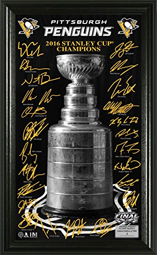 "NHL Pittsburgh Penguins 2016 Stanley Cup Champions ""Trophy"" Signature Photo, Gold, 24"" x 16"" x 4"""