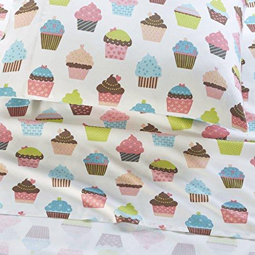 Mi-Zone Cupcake Sheet Set, Twin, Multi