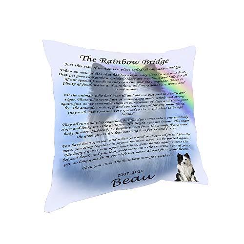 (Rainbow Bridge Border Collie Dog Pillow PIL67176 (26x26))