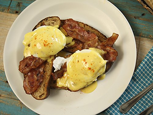Cooking Canadian Bacon (How To Make Eggs Benedict With Hollandaise Sauce)