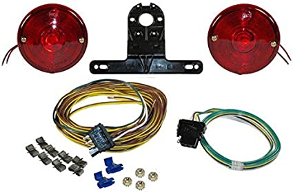 Amazon Com Economy Round Trailer Light Kit With Wiring Harness Sports Outdoors