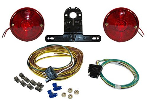 Economy Round Trailer Light Kit with Wiring Harness by Rigid Hitch