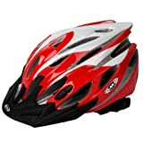 SMS Outdoor EPS Bicycle Bike Cycling Riding Helmet with 25 Vents, Red By BSK