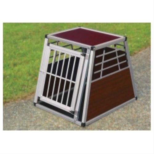 Metal Transport Dog Crate in Metallic Size  Large (80cm L x 100cm W x 85cm H)
