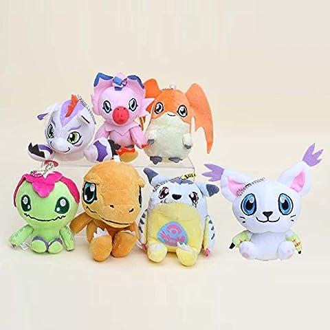 Digimon Plush Palmon Agumon Patamon Tailmon Gabumon Gomamon 7pcs Doll Stuffed Animals Figure Soft Anime Collection (Digimon Tailmon)