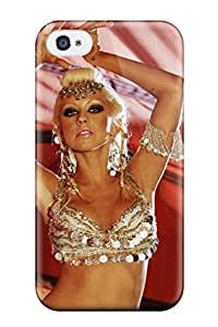 For Iphone 4/4s Protector Case Christina Aguilera Music People Music Phone Cover