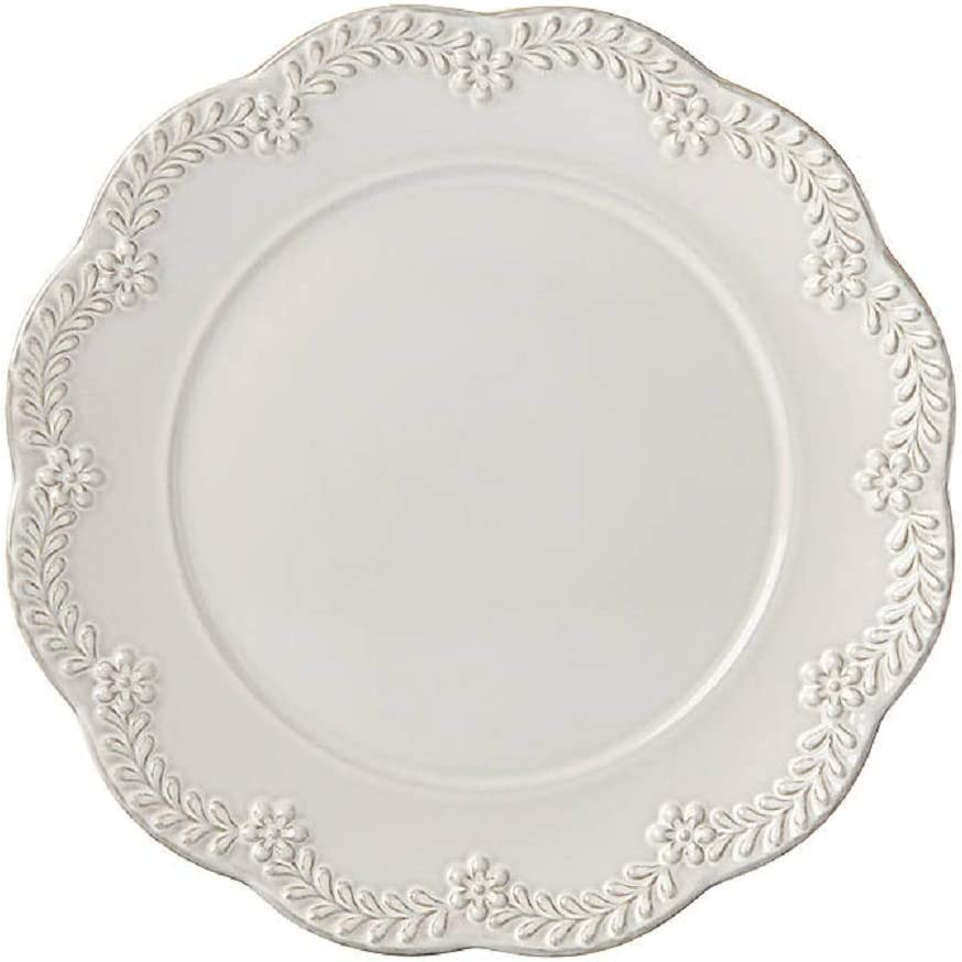Lenox Chelse Muse Floral Accent Plate, 1.10 LB, Taupe/Grey