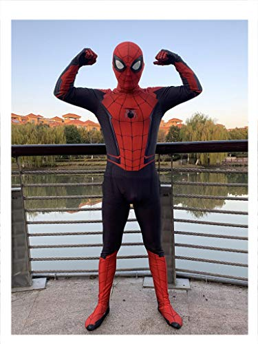 APPSS Marvel Spiderman Cosplay Costume Adult Elastic Bodysuit Tight Performance Costume Props Fashion personality (color : BLACK, Size : XL)