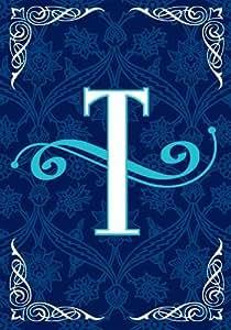 SnapDragon Flag - Blue Teal Monogram - T