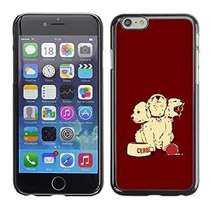 // PHONE CASE GIFT // Duro Estuche protector PC Cáscara Plástico Carcasa Funda Hard Protective Case for Apple Iphone 6 Plus 5.5 / Perro de perrito lindo /