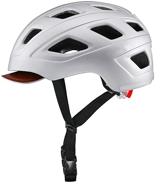 Yao Space Adjustable Adult Cycling Helmet City Leisure Commuter Bike Skateboarding Riding Helmet 6 Colors Sizes For Adults Youth Color Silver Size M Amazon Ca Home Kitchen