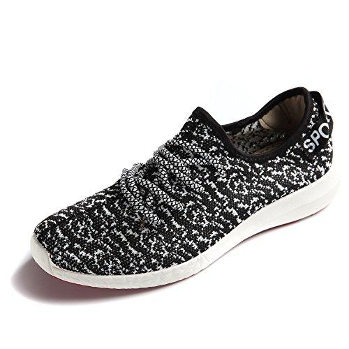 JARLIF+Women%27s+Canvas+Walking+Sneakers+-+Breathable+Running+Shoes+Black+US7.5