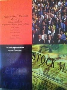 Paperback Quantitative Decision Making, Management 202 for Keene State College Book