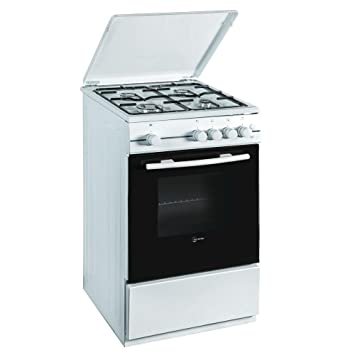 Atlantic cocina a gas 4 fuegos horno eléctrica con grill LxP 50 x 50 cm,