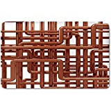 Memory Foam Bath Mat,Copper Decor,Knot of Copper Pipes Complex Entangled Lines Hardware Industry Inspired DecorativePlush Wanderlust Bathroom Decor Mat Rug Carpet with Anti-Slip Backing,Bronze White