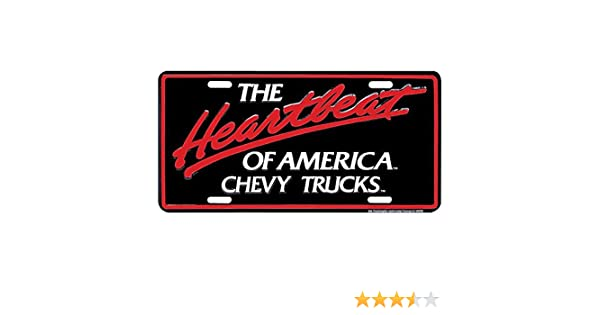 Signs 4 Fun Slact Chevy Truck Heartbeat License Plate