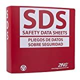 ZING 6035 Eco GHS-SDS Binder, 3.0'' Ring, Bilingual, Recycled Poly