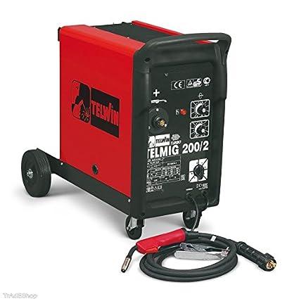 Telwin – Soldador hilo continuo telmig 200/2 turbo Telwin Mig/Mag Gas-
