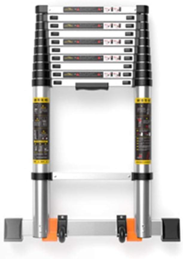 Telescópica extensible escalera telescópica Escalera 5,5 M |18 patas de la escalera extensible, multiusos de aluminio DIY escalera recta de altura for la seguridad del Loft, 330lbs Carga máxima lxhff: Amazon.es: Bricolaje