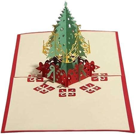 Tarjeta de felicitación 3D Pop Up Invitación Decoración Navidad España: Amazon.es: Hogar