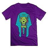 Men's Zombie Skull Short-Sleeve T-shirt Purple XXL