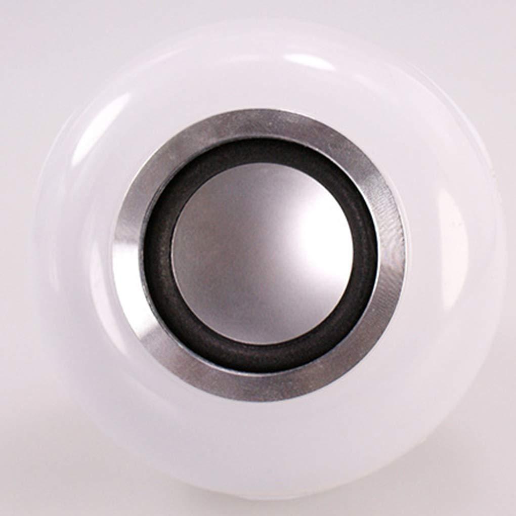 Elenxs E27 M/úsica Bluetooth Led Bombilla de Colorido Escenario de Control Remoto de m/úsica Inteligente del Bulbo