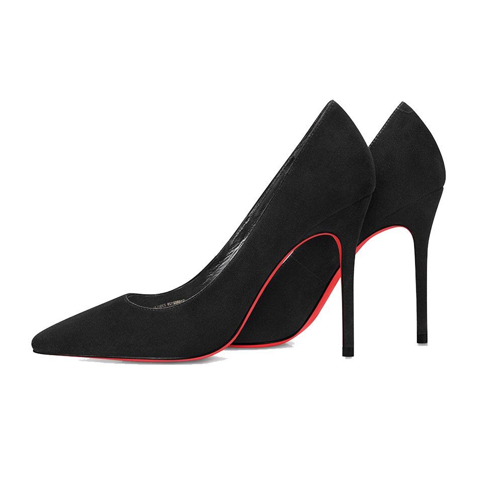 Schuhe mit hohen Absätzen LHA schwarzen hochhackigen (größe Spitze mit flachen Mund Schuhe Schuhe (größe hochhackigen   EU36 UK3.5 CN35) c2892f