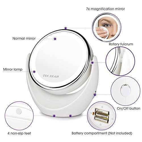 Double-Sided-Natural-LED-Lighted-Makeup-Mirror1x7x-MagnifyingAnti-fog-Design