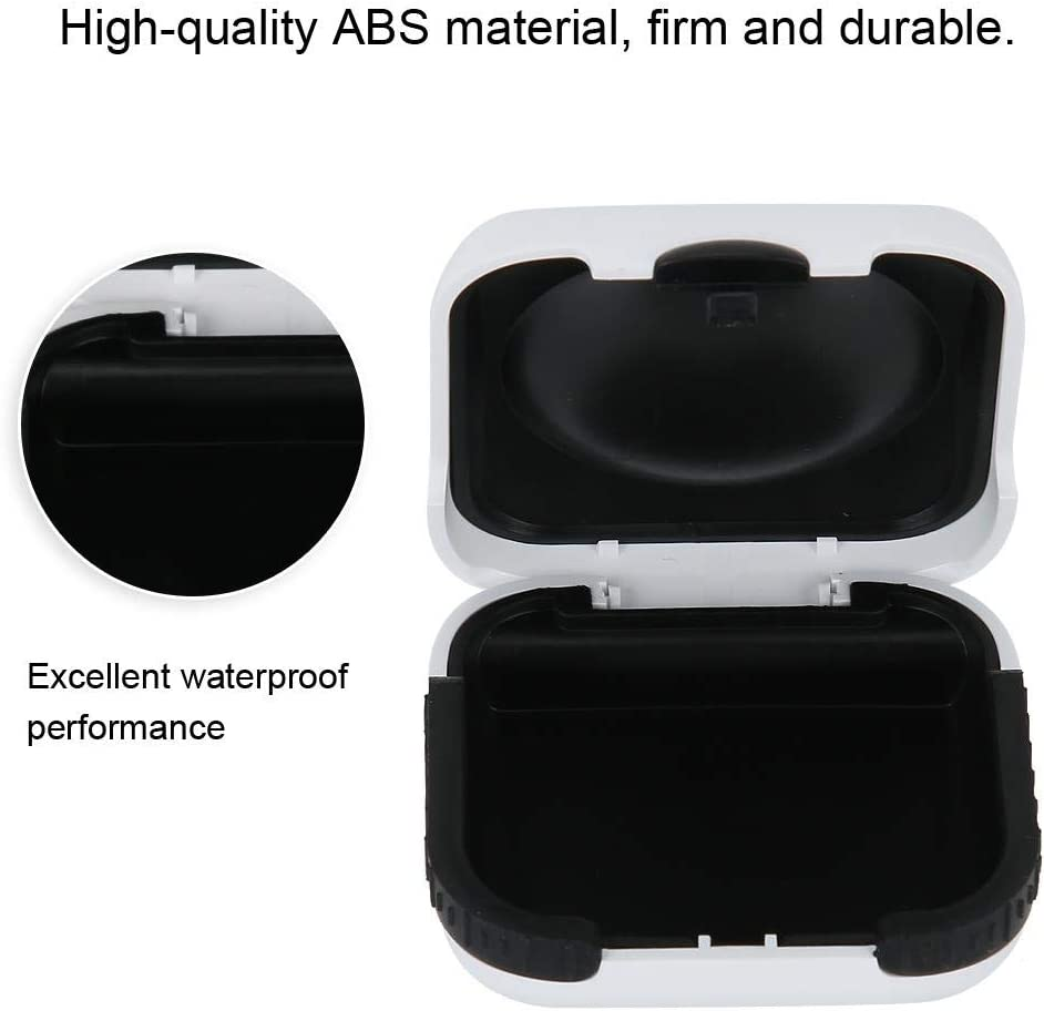 Hearing Aid Case Waterproof Hearing Aid Protection Storage Box with Built in High Elastic Silicone Air Cushion Ball to Prevent The Hearing Aid from Broken