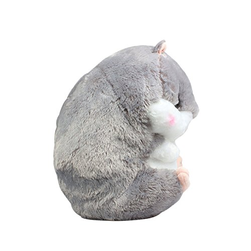 Crazy lin Baby Kids Animals Stuffed Doll Soft Plush 1 Hamster Throw Pillow With 1 Blanket (Hamster:15.811.8 inch, Grey) by Crazy lin (Image #3)