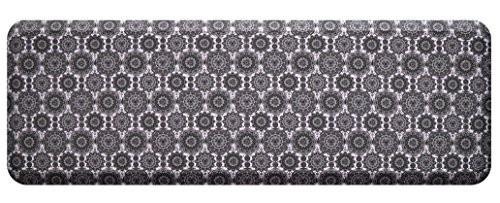 Floor Standing Parts (Licloud Anti-fatigue Mat Non-toxic Kitchen Mat Floor Mat Comfort Mat Desk Mat (24x70x3/4-Inch, grey-round flower))