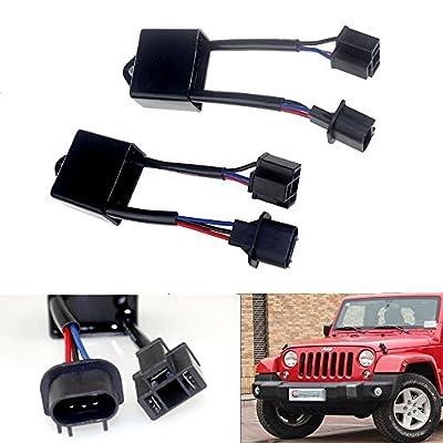 "Opar H4 To H13 Anti-Flicker Decoder Kit For 7"" Round LED Headlight of Jeep Wrangler JK"