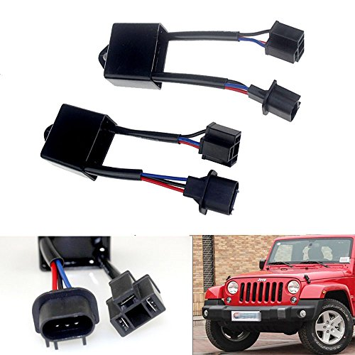 Opar-H4-To-H13-Anti-Flicker-Decoder-Kit-For-7-Round-LED-Headlight-of-Jeep-Wrangler-JK