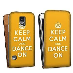 Diseño para Samsung Galaxy S5 DesignTasche black - Keep calm and dance on