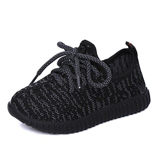 Nepretty Girls Breathable Running Shoes Boys Knit Lightweight Athletic Sneakers Walking by Nepretty
