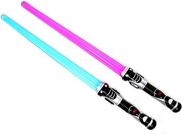 ARUNDEL SERVICES EU 2 pacchi Spada Laser Spada Leggera Lightsaber Rosso Blu Spada del Gioco Spaziale Spada Giocattolo