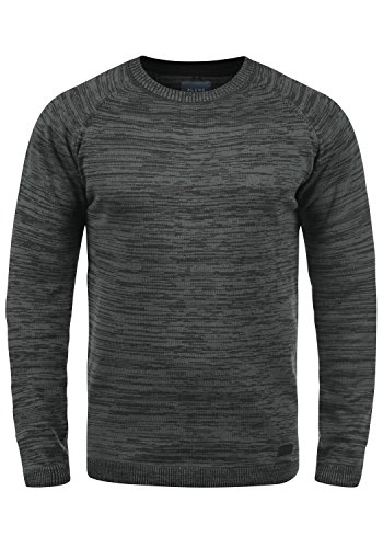 Maille En Blend Coton 70155 Pull over Homme Pull Black Samu Tricot Encolure Rond 100 ZtwwEWRqP